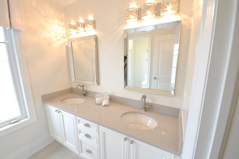 Fairmount Bathroom with Standup Shower, Soaker Tub, and Double-Sink Vanity.
