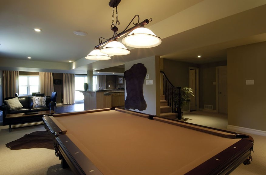 Cheasapeake Home Pool Table in Playroom