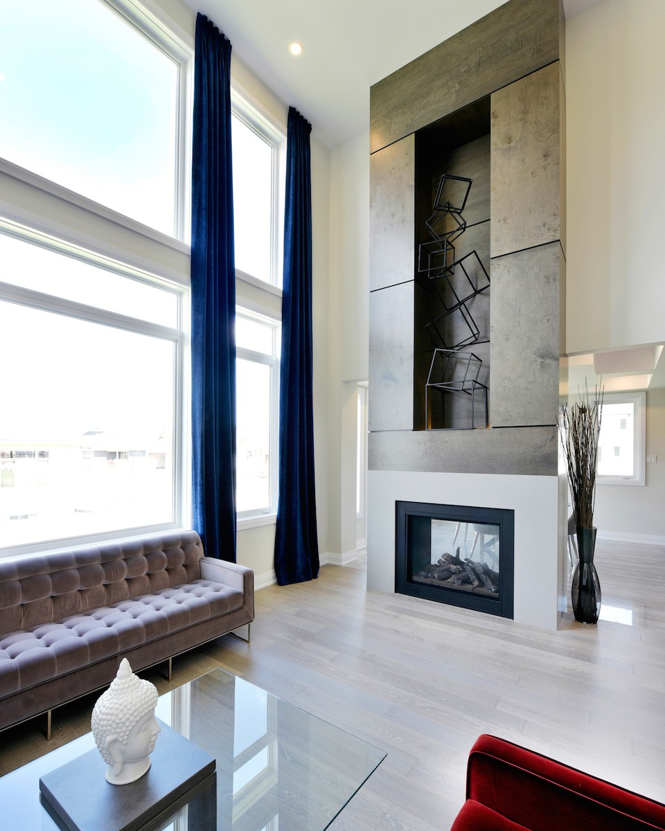 Rutherford living room with Fireplace by Phoenix Homes