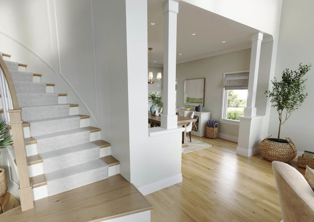 home entry way and stairs