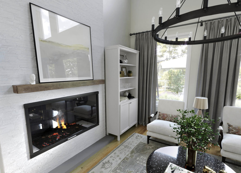 white family living room