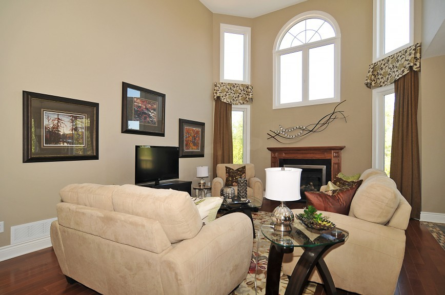 Cartestian 16-Foot High Ceiling Living and Dining Area