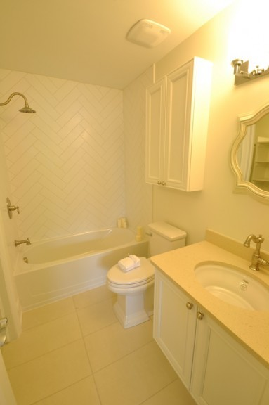 Bathroom with Large Standup Shower, Soaker Tub, and Double-Sink Vanity