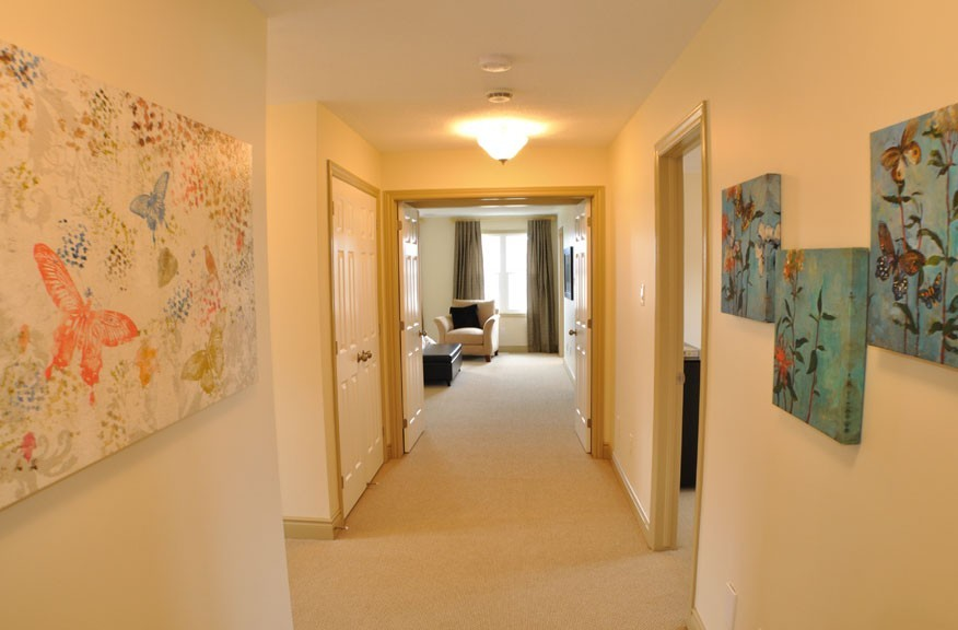 Bradford home showing Hallway by Phoenix Homes