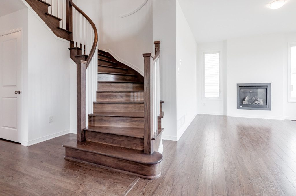 Main Stairs with Large Closet, Laundry Room