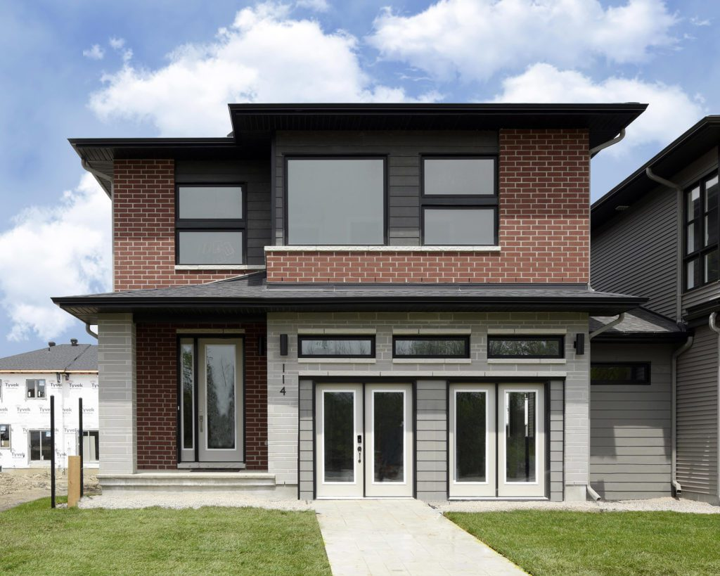 Front View Of Newly Built Home