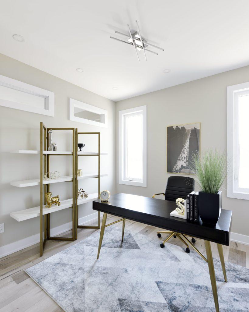 simplistic office area