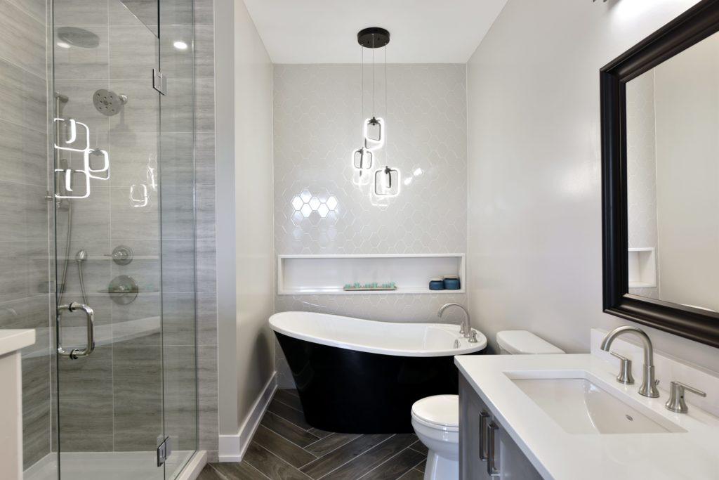 modern looking bathroom