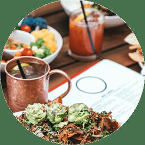 food and drink circle png image