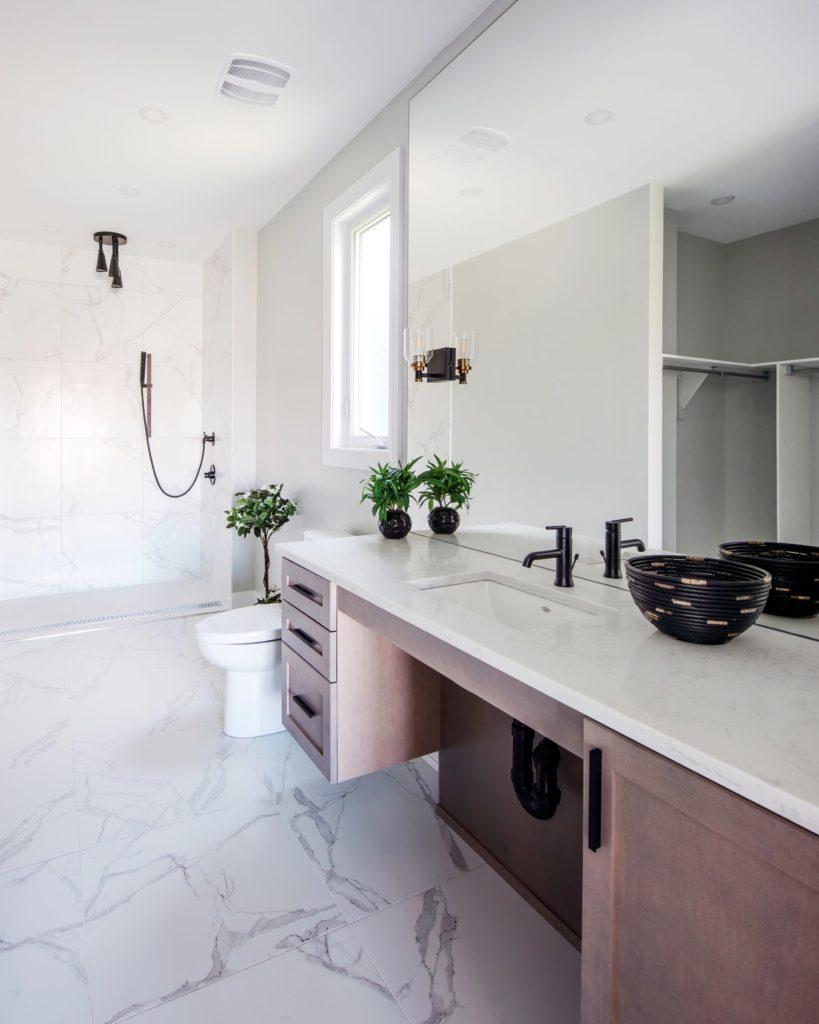 clean tiled bathroom