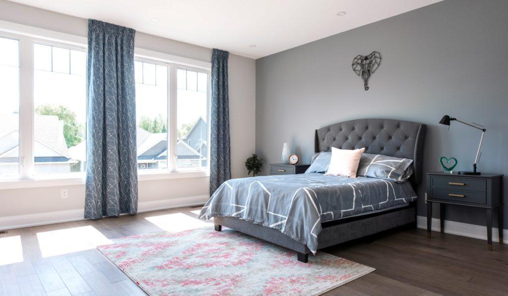 open blinds master bedroom