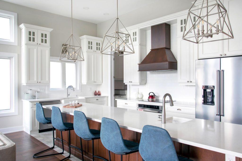 white kitchen space