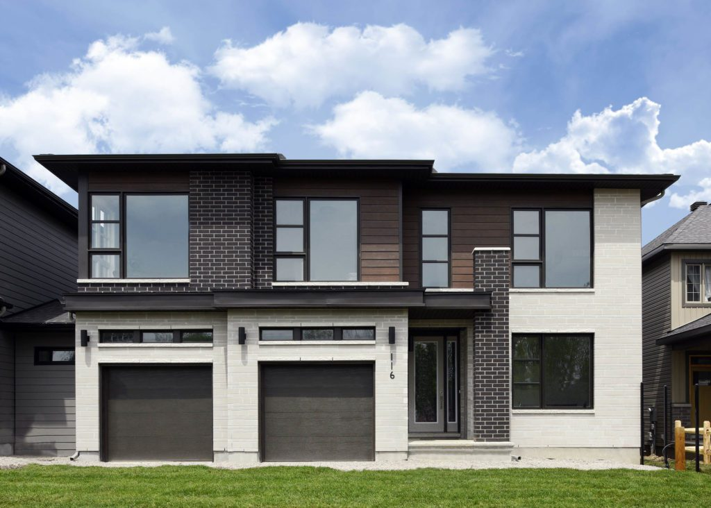 front of suburban home