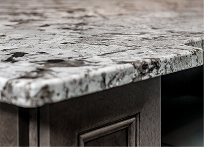 marble counter top close up