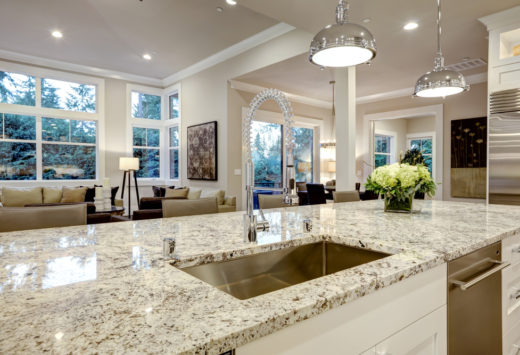 marble kitchen counter top