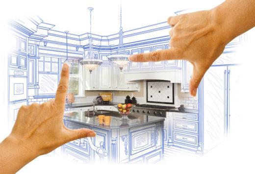 hand framing custom kitchen